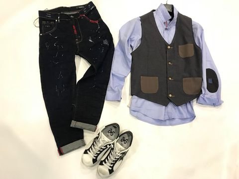 Henri LLOYD Camicia Oxford tinta unita-CLUB-Blu scuro bianco cielo blu
